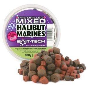 HALIBUT MARINE Pellet Drilled Mix Bait-Tech 300g 2501221 Przynęty Karpiowe Duże