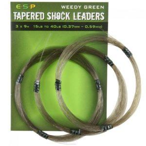 Przypon Strzałowy TAP. SHOCKLEADER GREEN 3x9m ESP Kod: ELTSL15402 Program Carp ESP