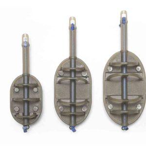 Bardzo podobny do In-Line Flat Method Feeder zarówno w wielkości jak i budowie. Preston Elasticated Flat Method Feeder został wyposażony w gumkę amortyzującą zrywy ryb. Obciążenie znajdujące się w spodniej części zapewnia