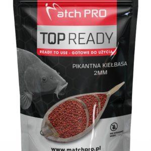 Najnowszej generacji gotowy pellet wysokoproteinowy o naturalnym zapachu i smaku pikantnej kiełbasy.