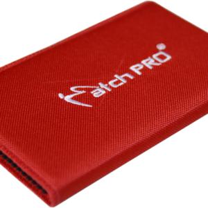 Portfel Szyty MatchPro 15cm Czerwony SLIM Haczyki
