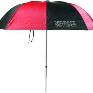 Klasyczny i lekki parasol z nylonowym pokryciem w kombinacji kolor czarny i czerwony. Wyposażony w wytrzymały mechanizm przechyłu i solidny drążek.