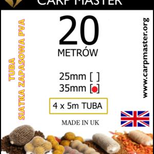 Dwadzieścia metrów siatki rozpuszczalnej o średnicy 35 mm.